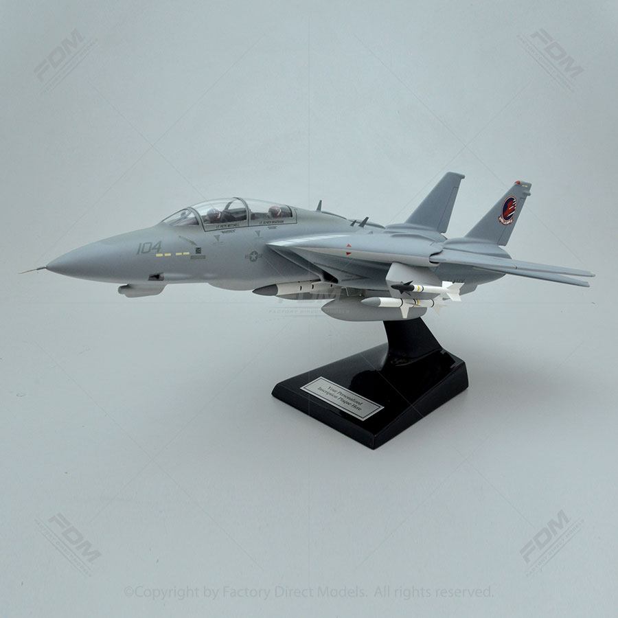 Grumman F-14A From the Movie Top Gun Scale Model Aircraft