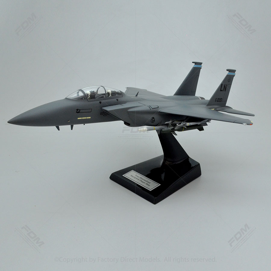 McDonnell Douglas F-15E Strike Eagle Model with Detailed Interior