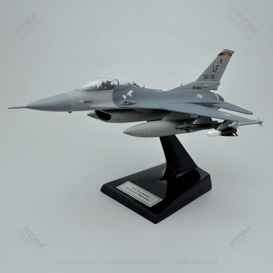 Lockheed Martin F-16C Luke Air Force Base Model with Detailed Interior