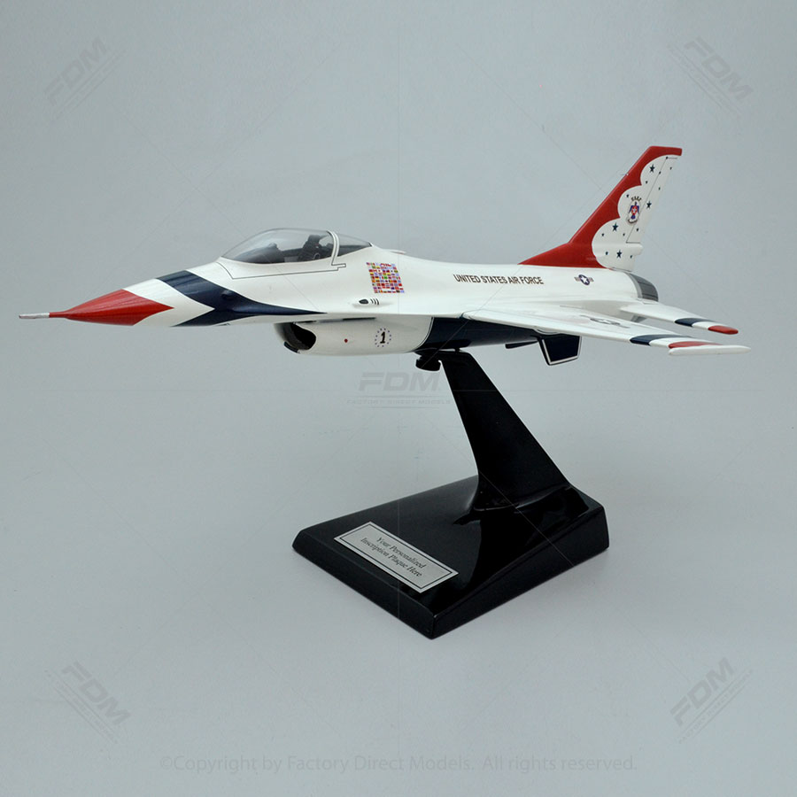 Lockheed Martin F-16C Thunderbirds Model with Detailed Interior