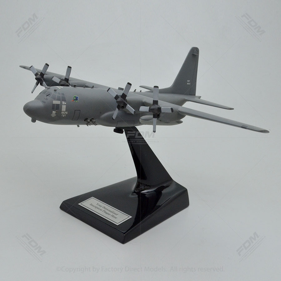Lockheed AC-130H Gray USAF Camou Gunship Scale Model Airplane