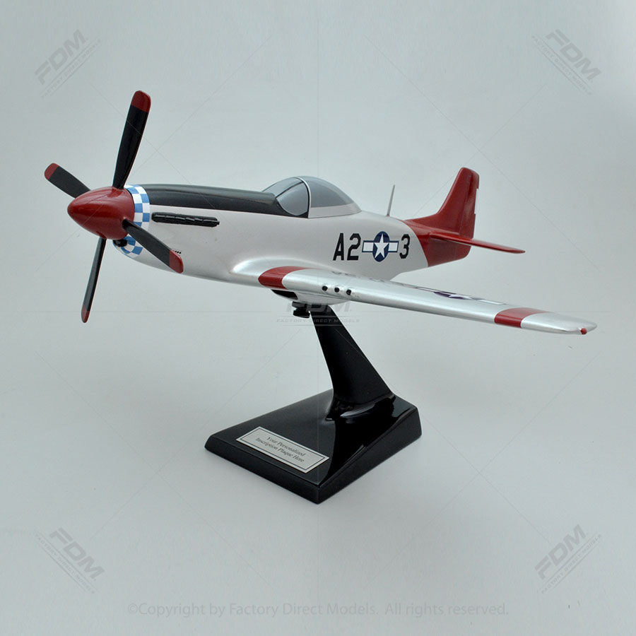 "North American P-51D Mustang ""Tuskegee Airmen"" Model Airplane"
