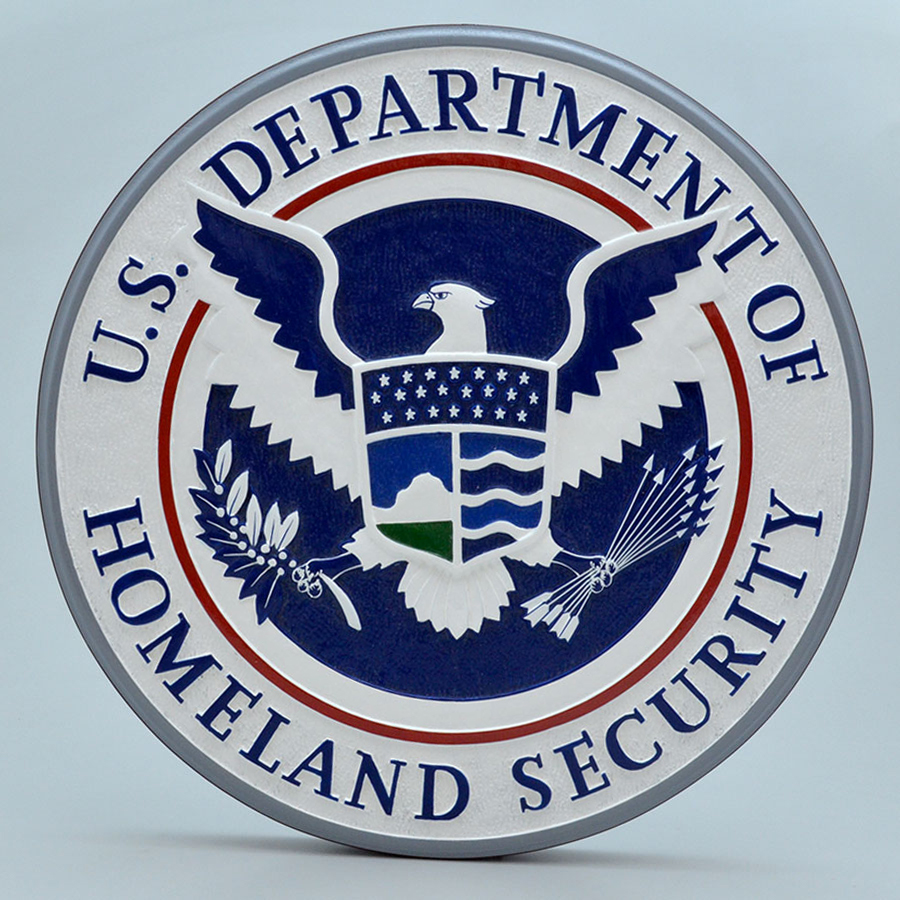 "US Department of Homeland Security 14"" Wall Plaque"