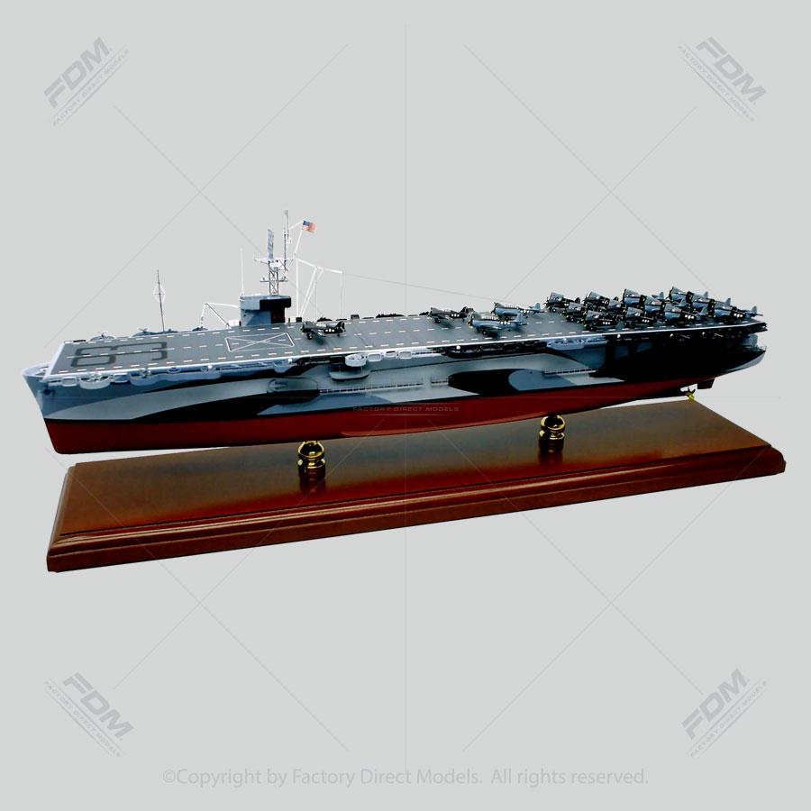 USS Makin Island (CVE-93) Model Ship