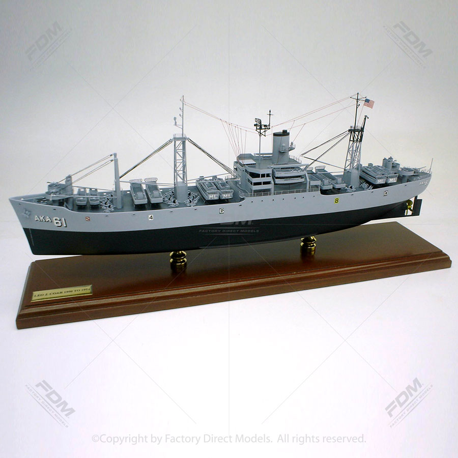 USS Muliphen (AKA-61) Model Ship