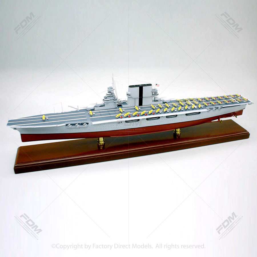USS Saratoga (CV-3) Model Aircraft Carrier