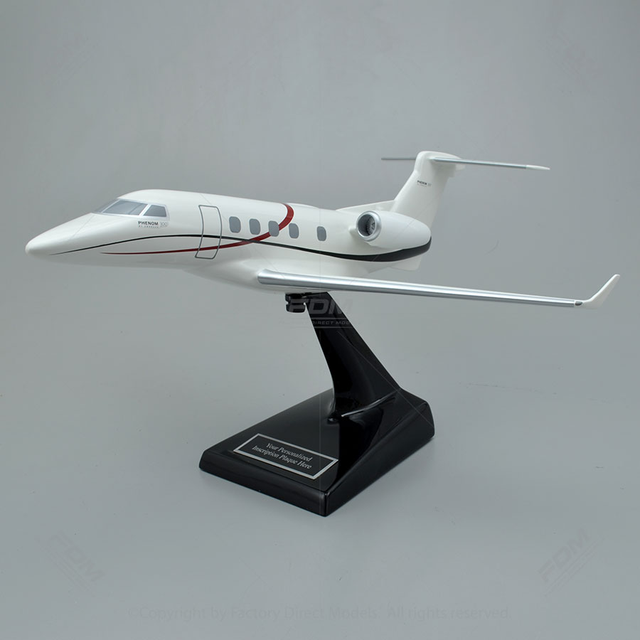 Embraer Phenom 300 Scale Model Airplane