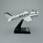 Beechcraft Baron 58 Scale Model Airplane with Detailed Interior
