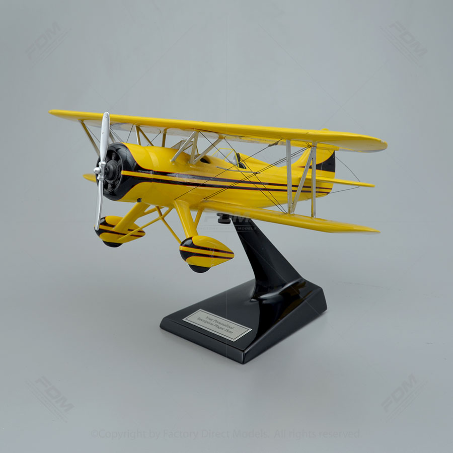 Waco YMF5C-8-124 Bi-Plane Scale Model Airplane