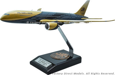 Boeing 787-800 with Living Legends of Aviation Paint Scheme Model