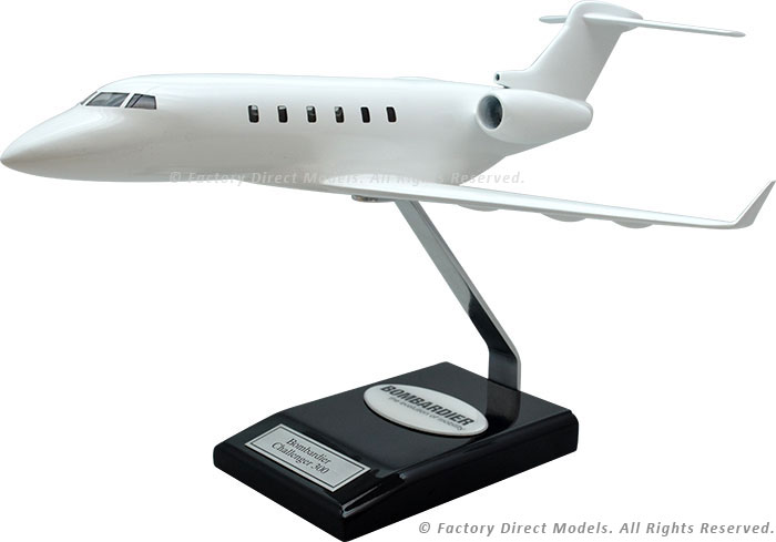 Your Custom Painted Bombardier Challenger 300 Scale Model Airplane with Detailed Interior