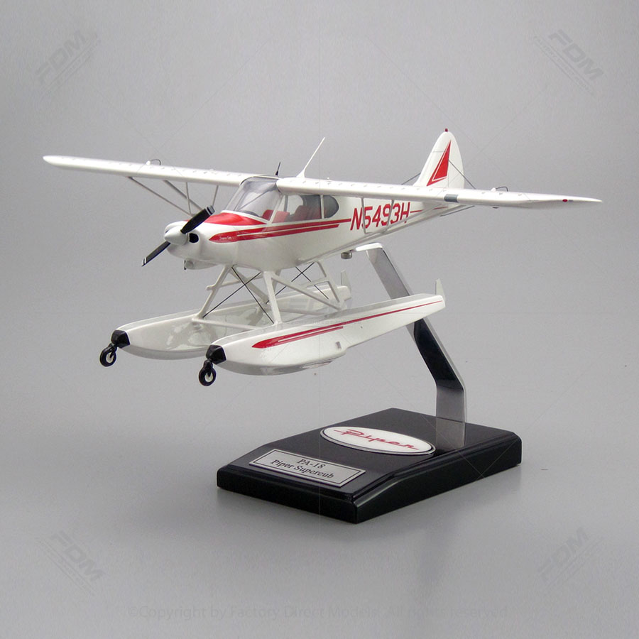piper pa 18 super cub model with detailed interior. Black Bedroom Furniture Sets. Home Design Ideas