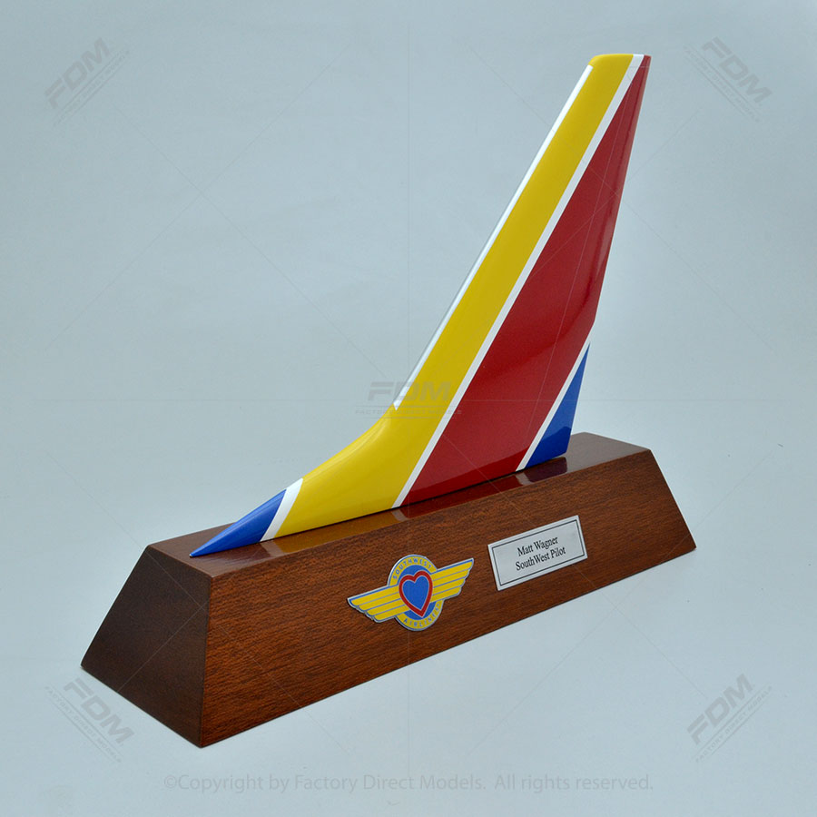 Southwest 737 800 Tail Fin Factory Direct Models
