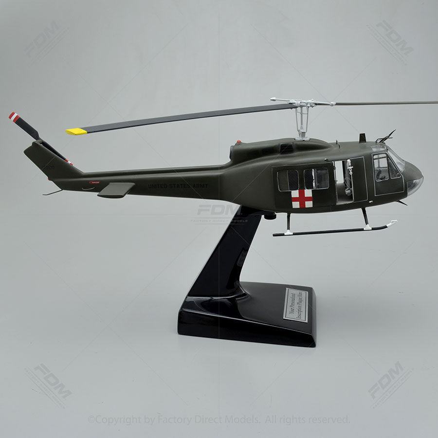 Bell Uh 1h Huey Model With Detailed Interior