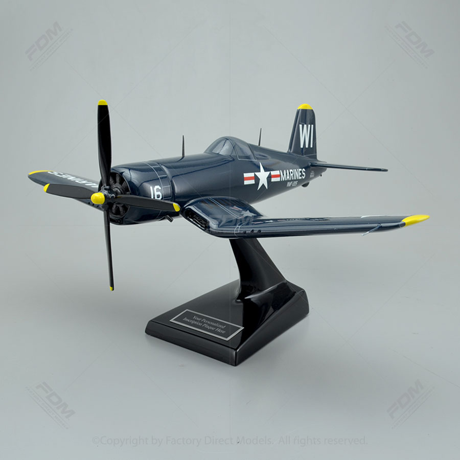 Vought F4U-4 Corsair Model Airplane - 55.5KB