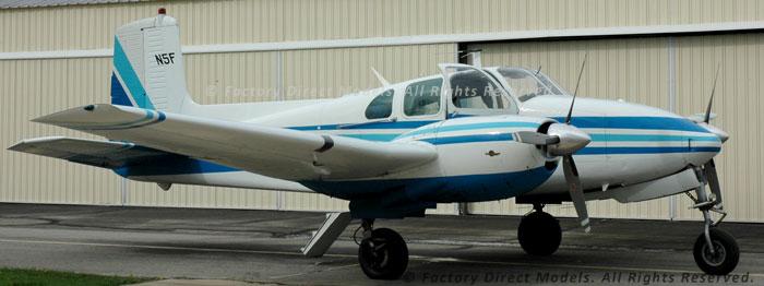 Beechcraft D50c Twin Bonanza Mahogany Model Factory