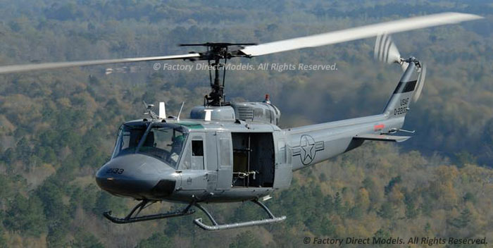 Bell TH-1H Huey II Scale Model Military Helicopter