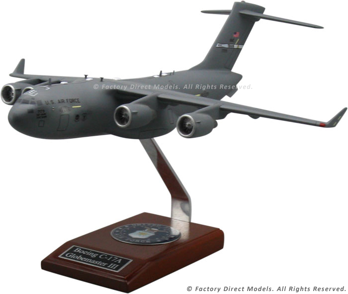Boeing C 17 Globemaster Scale Model Factory Direct Models