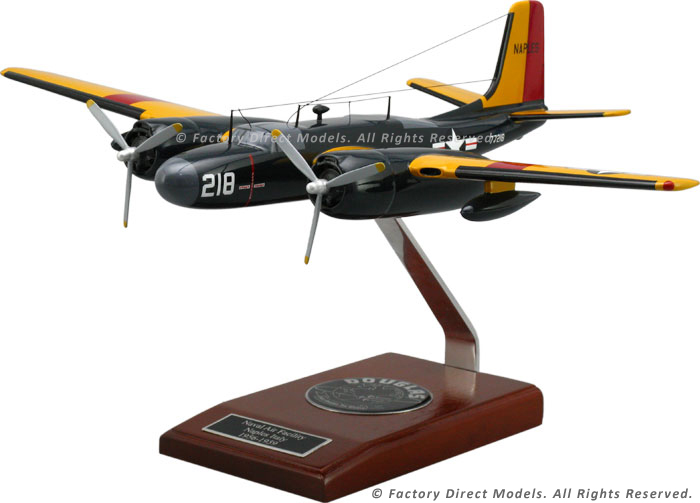 Douglas A 26 Invader Wooden Model Airplane