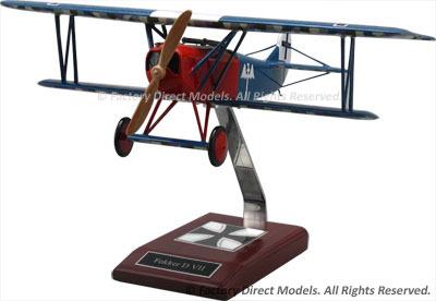 Fokker D.VII Scale Model Aircraft