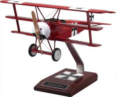 Fokker Dr1 Triplane Scale Model Military