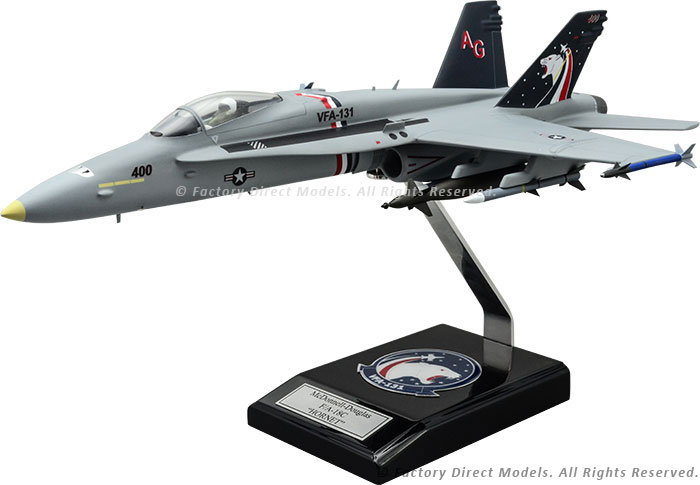 Mcdonnell Douglas F-18 VFA-131 Model with Detailed Interior