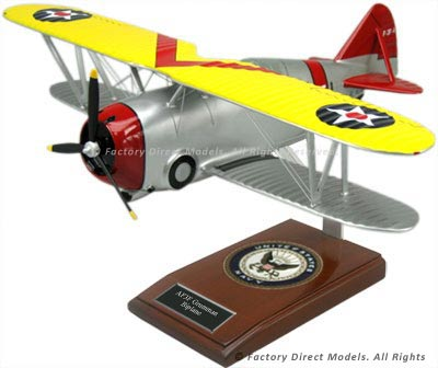 Grumman F3F-2 Flying Barrel Biplane Model