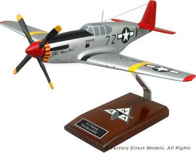 "North American P-51 Mustang ""INA The Macon Belle"" Tuskegee Airmen Model"