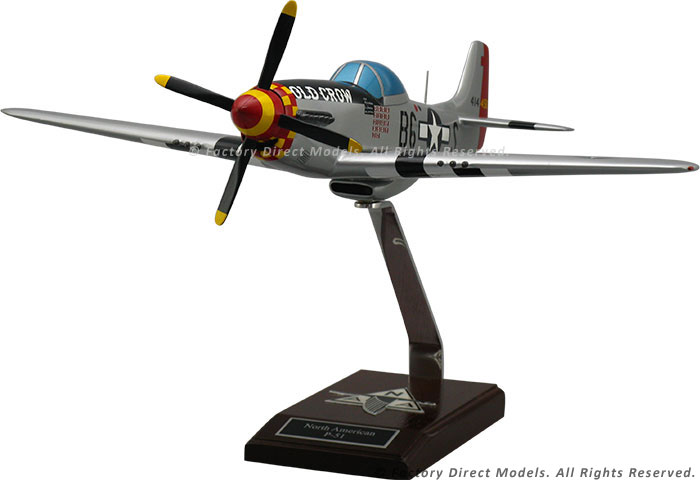 North American P-51 Mustang Old Crow Scale Model