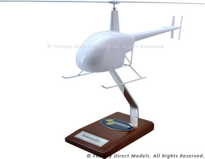 Your Custom Painted Robinson R22 Scale Model Helicopter