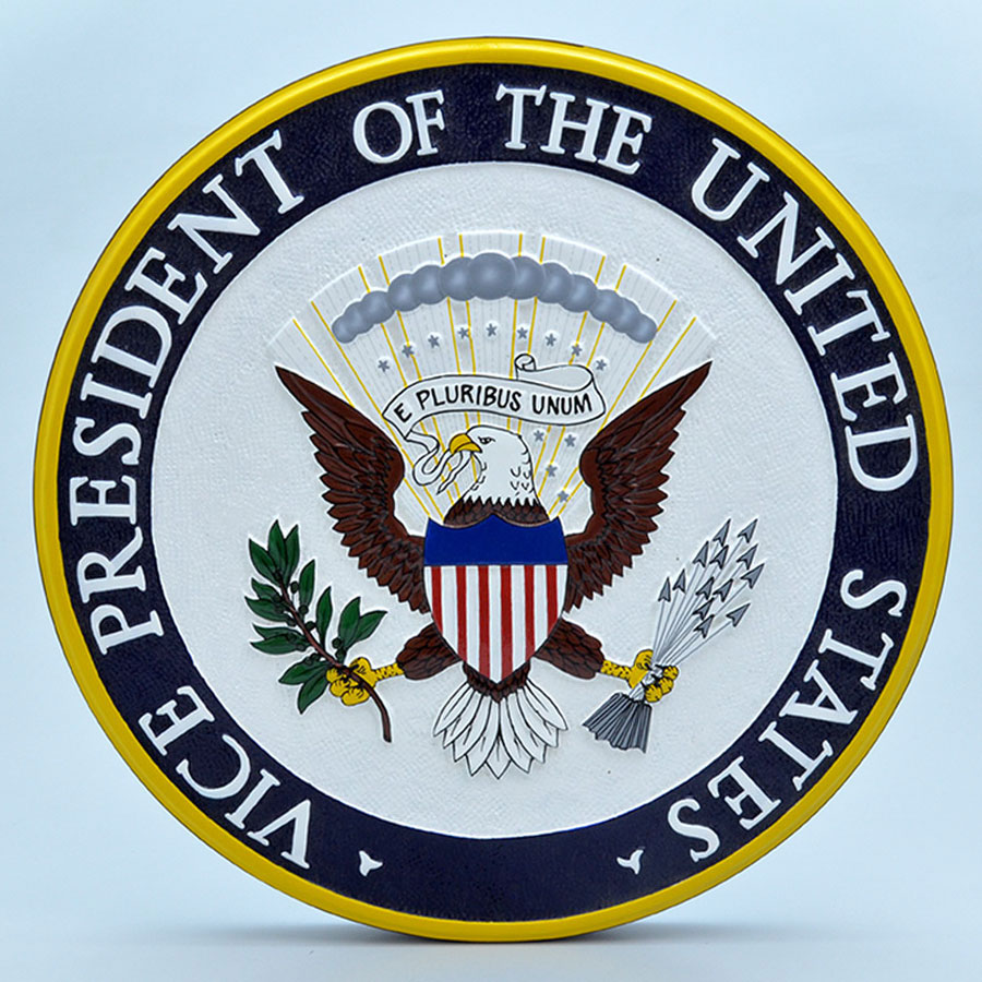 "US Vice Presidential Seal 14"" Wall Plaque"