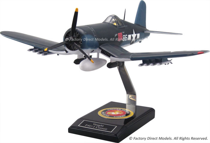 Chance F4U-1A Corsair MKII Pappy Boyington Model with Detailed Interior