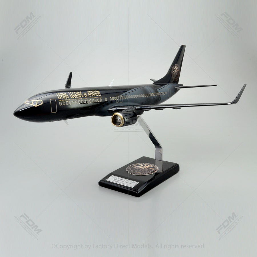 """24"""" Long Boeing 737 MAX-8 Living Legend of Aviation Paint Scheme Model with Detailed Interior"""