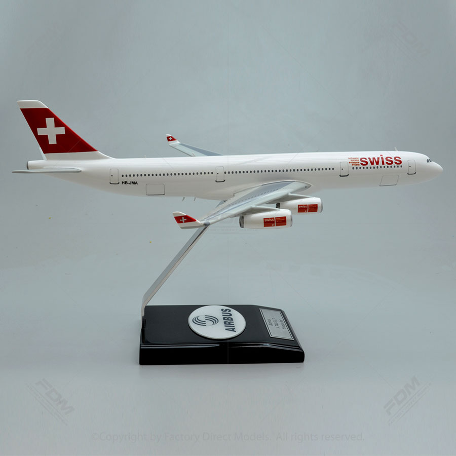 airbus a340 300 swiss airlines model fd15 1604l2 factory direct models