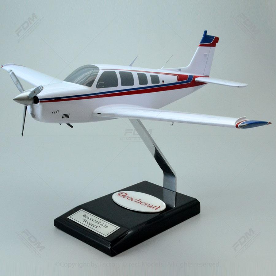 "Beechcraft A-36 ""Bonanza"" Model Airplane"