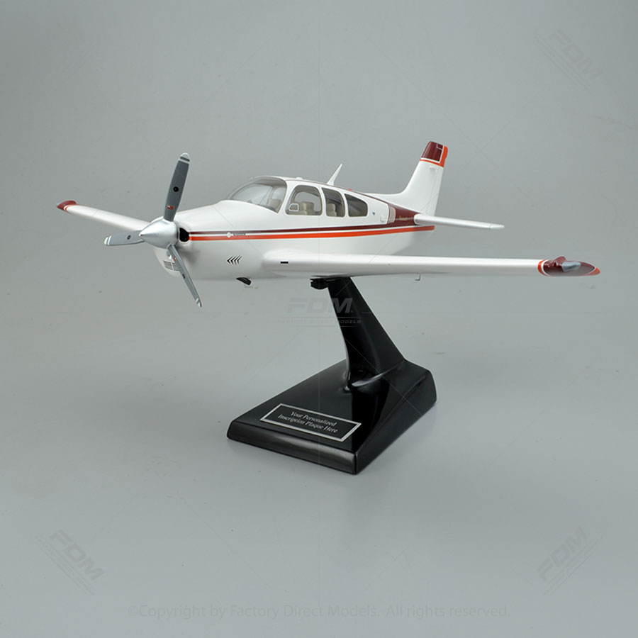 Beechcraft Bonanza F33A Model Airplane with Detailed Interior