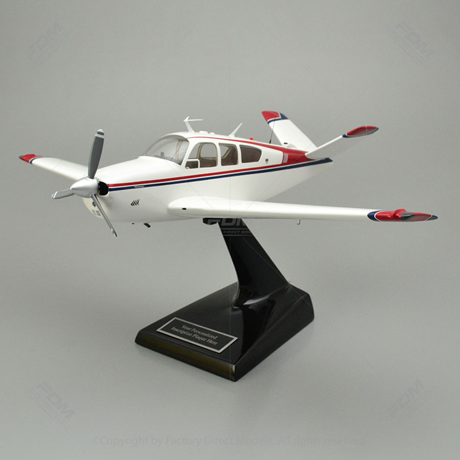 Beechcraft Bonanza V35 V-Tail Scale Model Airplane with Detailed Interior