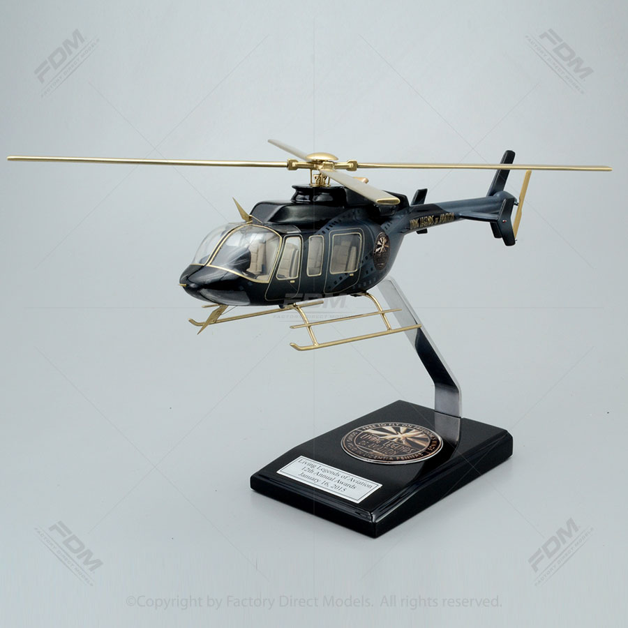 Bell 407GX Living Legend of Aviation Paint Scheme Model with Detailed Interior