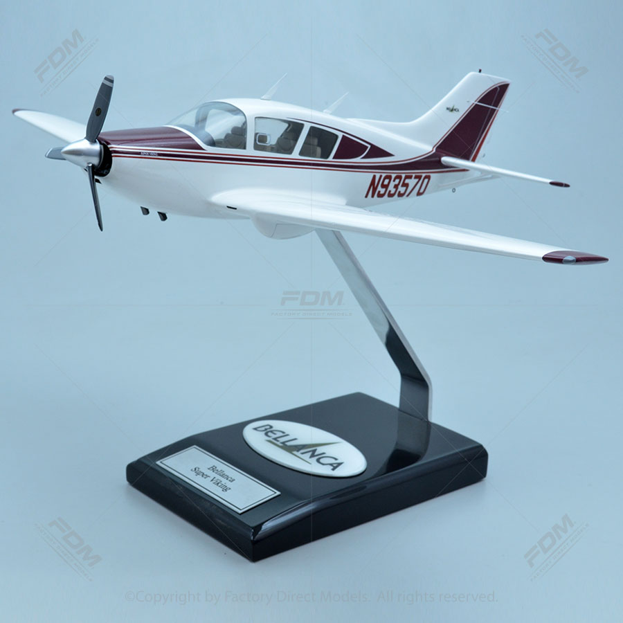 Bellanca 17-30A Super Viking Model with Detailed Interior
