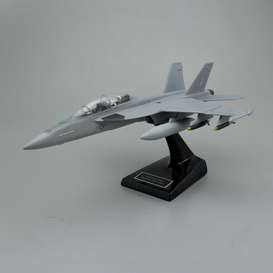 Boeing F/A-18F USN VFA-32 Loaded Model Airplane with Detailed Interior