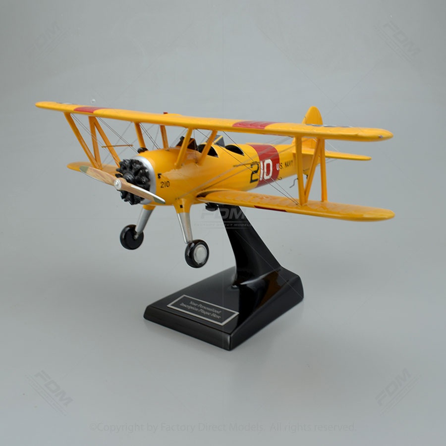 Boeing Stearman PT-13 Biplane US Navy Model