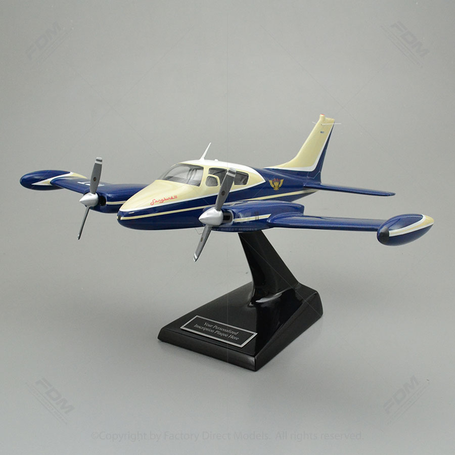 Cessna 310D Sky King Songbird III Model Airplane with Detailed Interior