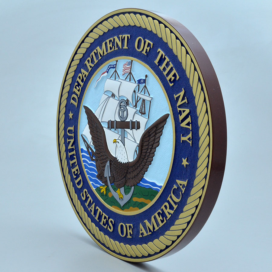 Department Of The Navy 14 Wall Plaque