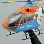 Eurocopter EC135 Bear Force One Model Helicopter with Detailed Interior