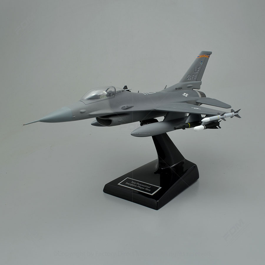 Lockheed Martin F-16C Fighting Falcon Luke Air Force Base Model Airplane