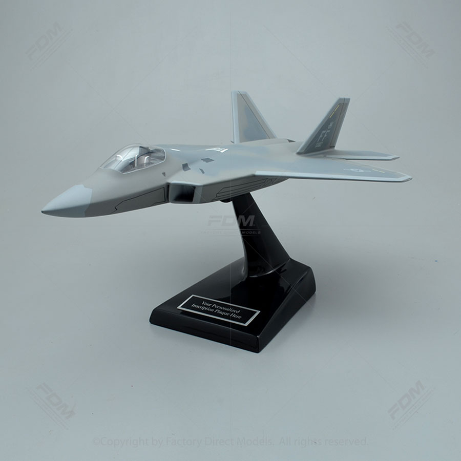 Lockheed Martin F-22A Raptor Model Airplane with Detailed Interior