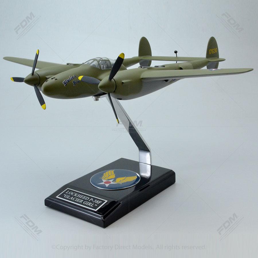 Lockheed P-38F Lightning Glacier Girl with Detailed Interior