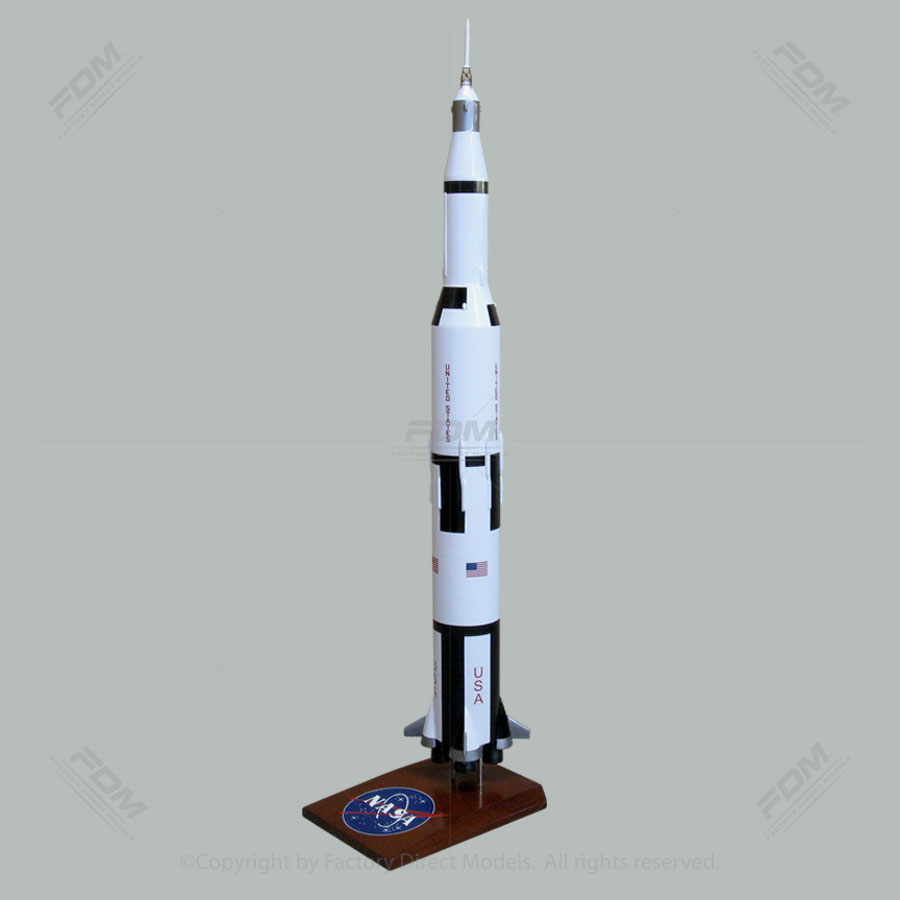 33 Inches Tall NASA Saturn V Rocket Model
