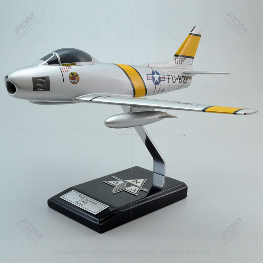 North American F-86E Sabre Boots Blesse Korean War Military Model Aircraft