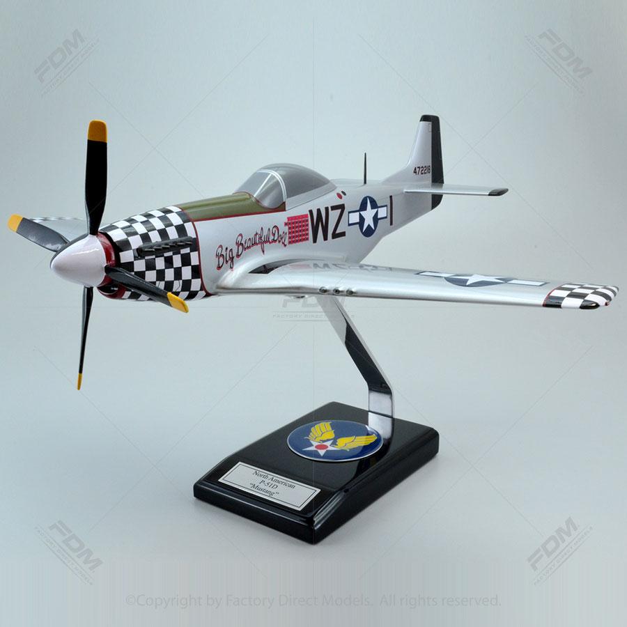 North American P-51D Big Beautiful Doll Model
